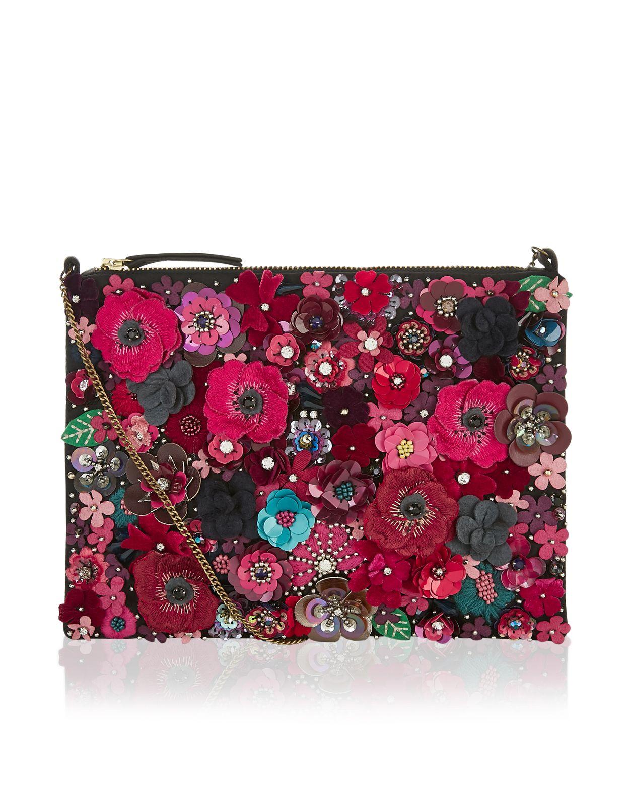 a9a4df7baa62 Mabel 3D Floral Clutch Bag | Multi | Accessorize | Bags | Floral ...