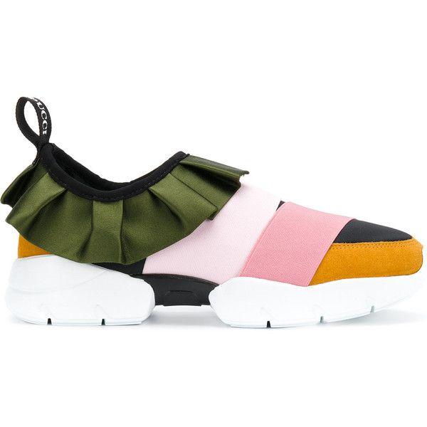 Emilio Pucci Ébouriffé Slip-on Chaussures De Sport - Jaune Et Orange 97lgK4xS