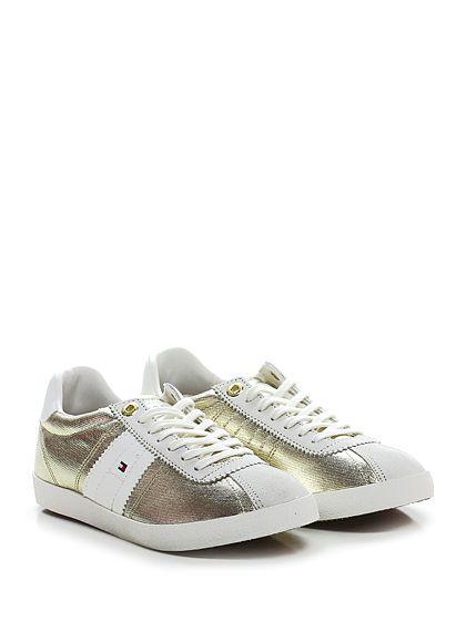 Sneaker Whitegold Tommy Hilfiger | Sneaker, Sneakers, Tommy