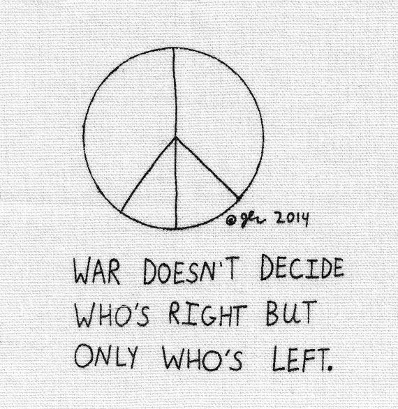 Tattoo Quotes Punk: Political War Peace Sign DIY Crust Punk Cloth By