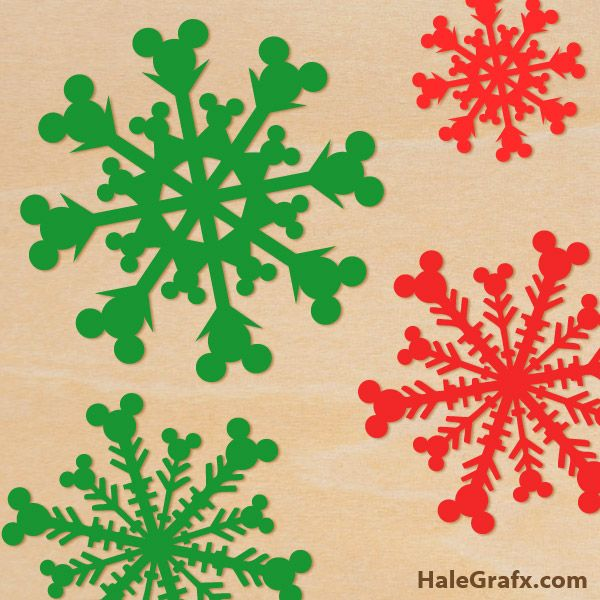 free christmas mickey mouse snowflake svg pack christmas winter