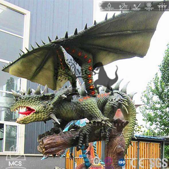 Lifelike Animatronic Dragon Komodo In Backyard-DRA023 in ...