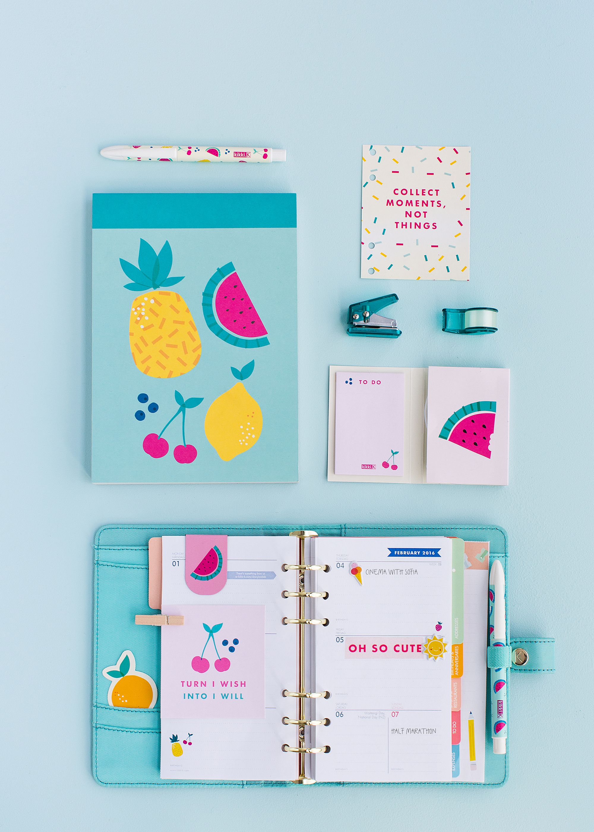 Make your stationery extra fun with the new kikki k cute for How to make a good planner