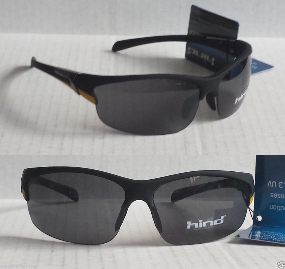 HIND men sport sunglasses wrap style NWT with black pouch