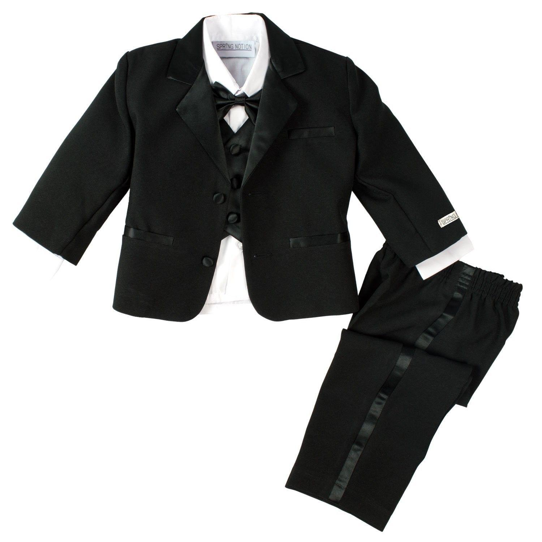Spring Notion Boys White Classic Tuxedo with Tail