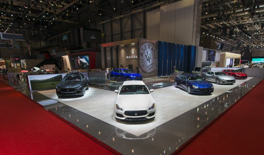 Maserati At Geneva Motor Show Car Display Maserati Special - Luxury car show