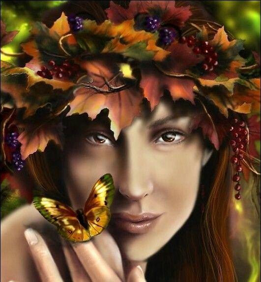 Autumn fairy by Sylvia