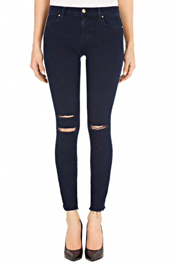 J Brand Photo Ready Cropped Mid Rise Skinny Jeans ...