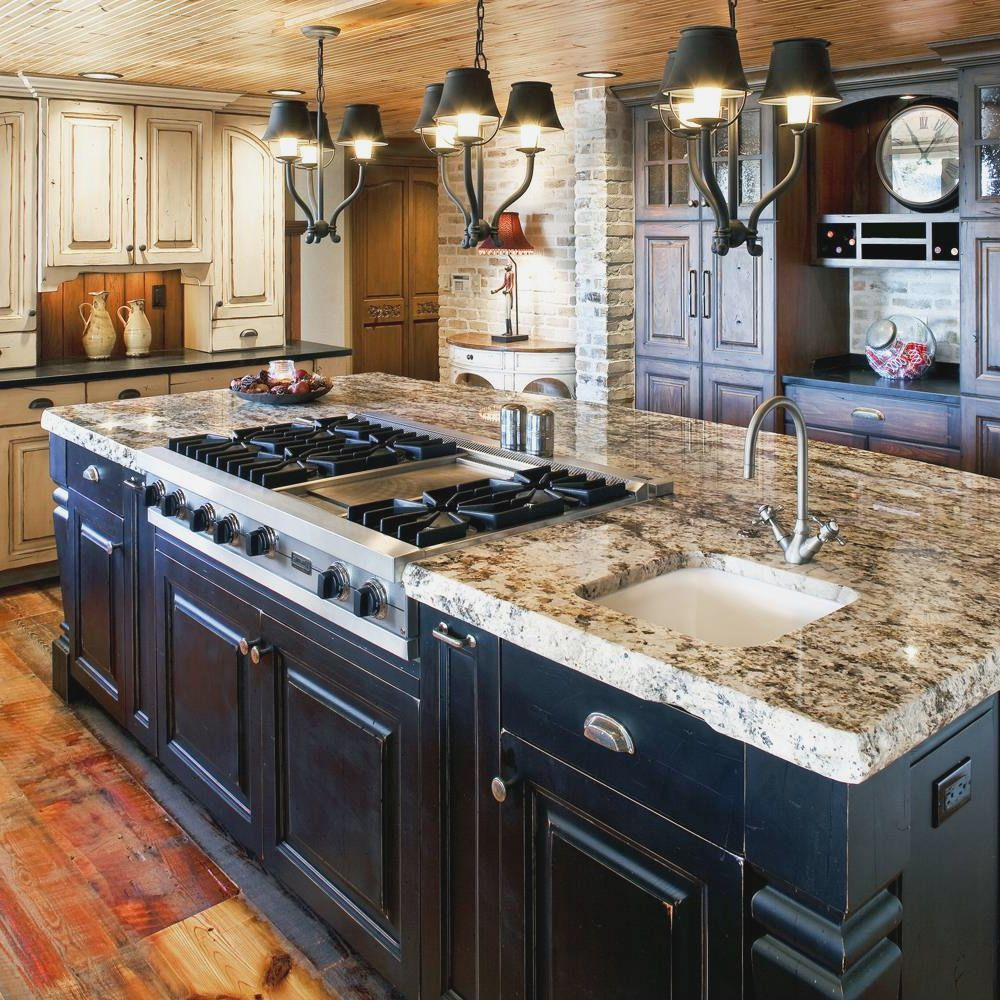 Kitchen Island With Stove Plans: Painting Kitchen Cabinets Dark Bottom Light Top More Picture Painting Kitchen Cabinets Dark