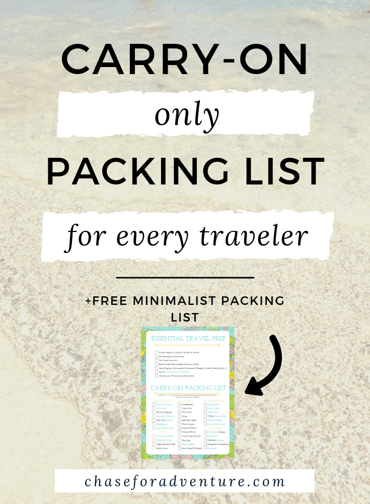 Looking for minimalist travel tips? We've traveled carry-on only for the last two years and in this post we cover every thing we own, the best minimalist travel gear, what to pack for a year of travel, and include a free minimalist packing list, too! This is the ultimate guide to traveling minimally  but in style. If you're looking for the best vlogging gear, too, we have a special section on the packing list just for you! Clikc through now! #packingtips #packinglist #whattopack #travelgear
