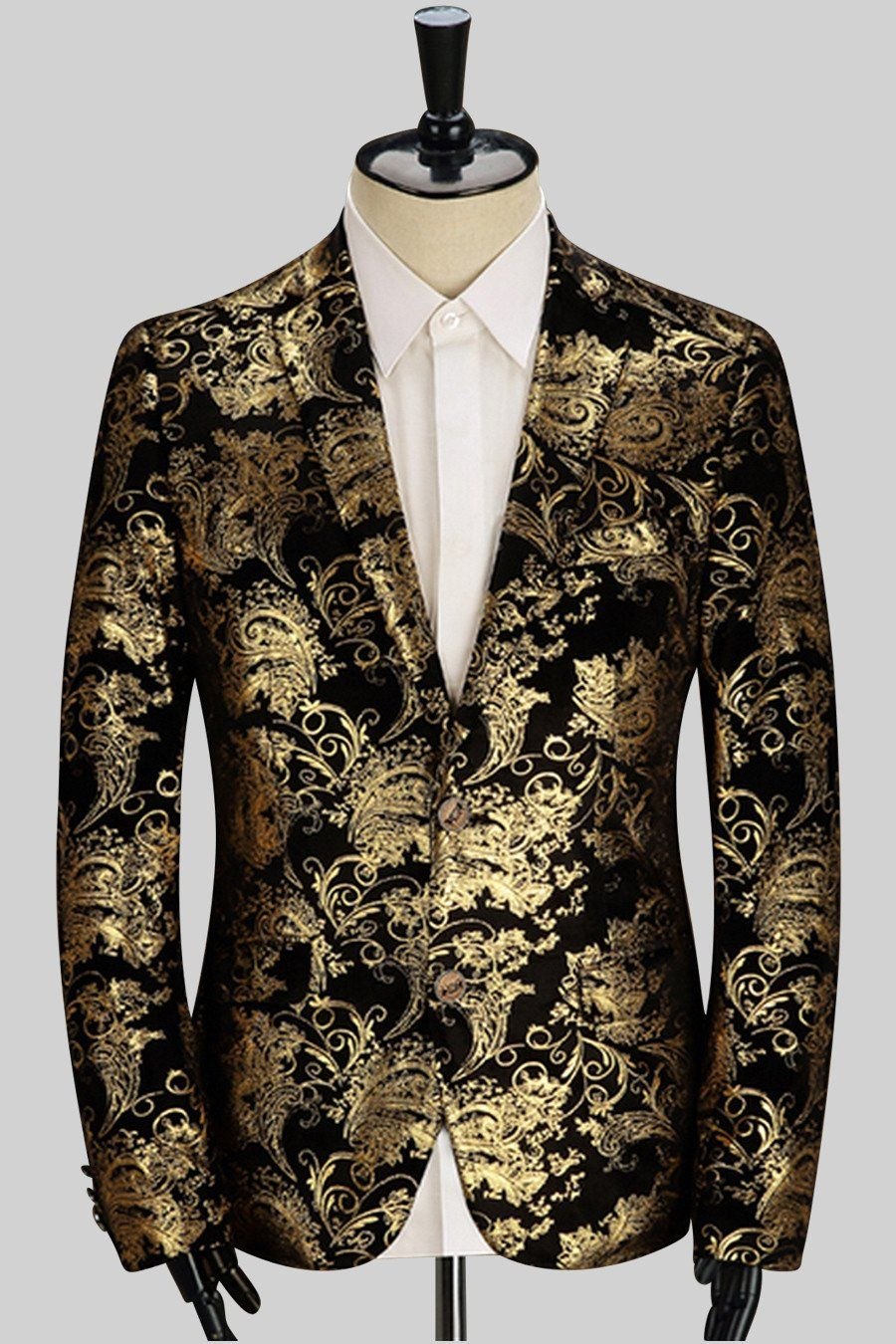 20e09223d40 Golden Print Jacket In Black in 2019