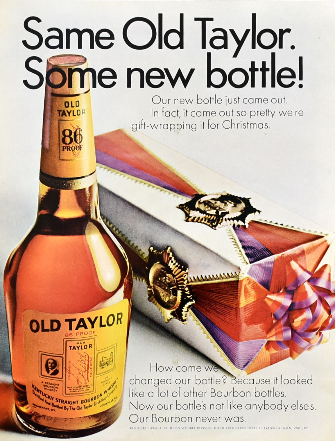 Christmas Ad Non Alcholic 2020 Old Taylor 86 Bourbon Whiskey Ad | Retro Reveries in 2020 | Bar