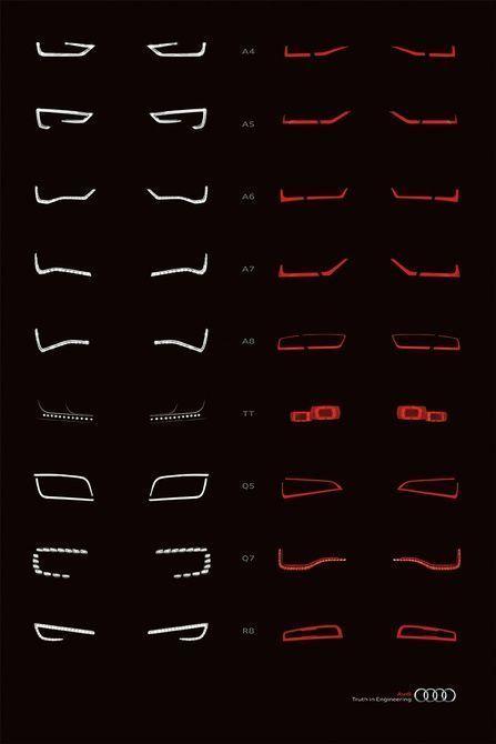 Alfabeto de Audi - Graphis - Auto Desi ...   - schöne autos -