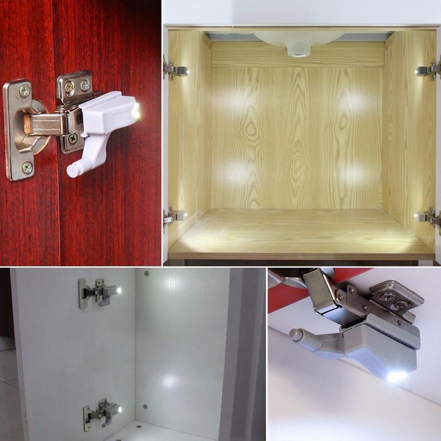 Set Of 10 Led Hinge Lights Humble Household Led Cabinet Lighting Hinges For Cabinets Cabinet Lighting