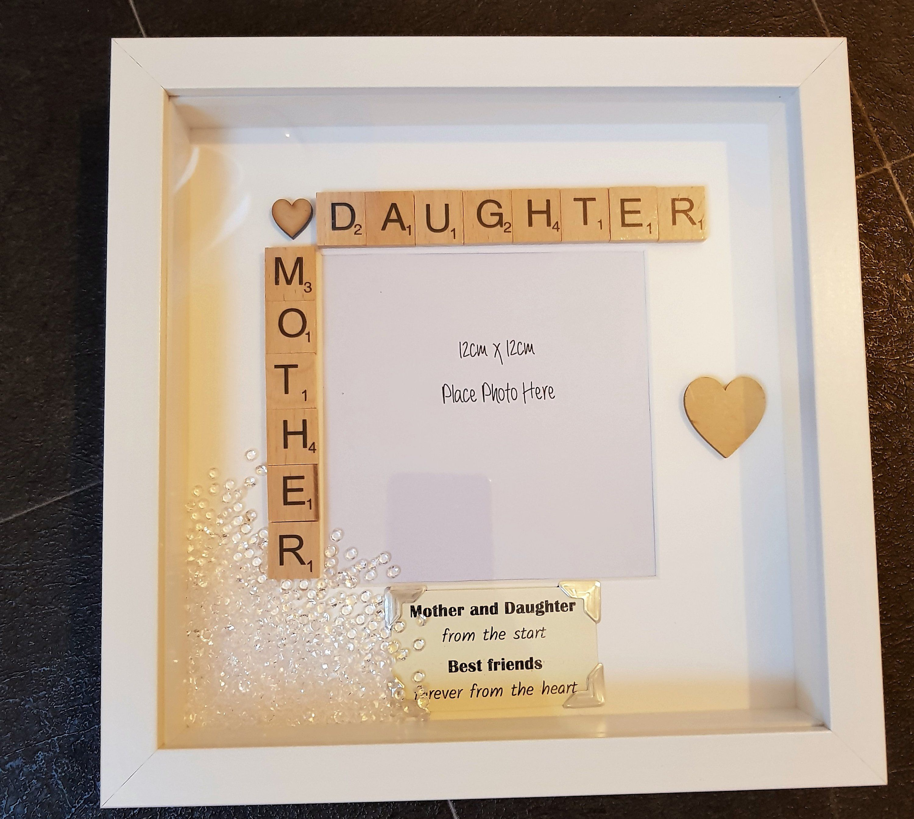 Personalised Scrabble Letter Box Frame Picture