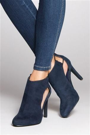 78db9afd026b5 Navy Side Slice Shoe Boots | Killer shoes | Shoe boots, Shoes, Boots