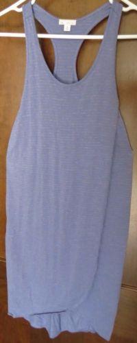 9de84bd34ed Gap Dress Extra Small XS Gray Purple Striped Sleeveless Racerback Knee  Length