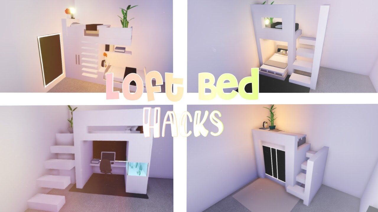 Loft Bed Hacks Roblox Adopt Me Cute Room Ideas Home Roblox My Home Design