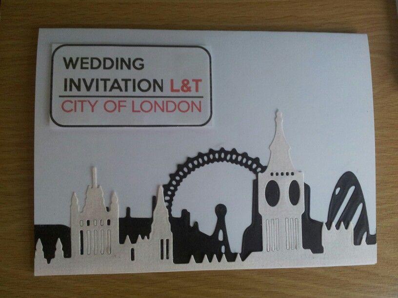 London Themed Wedding Invitation Please Contact Onceuponadream