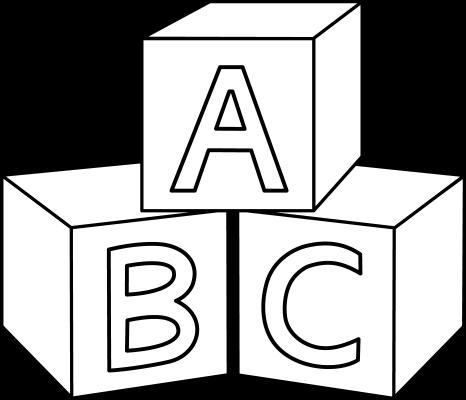 Baby Blocks Outline Png Cf Png 466 400 Desenhos Desenhos Para Colorir Alfabeto
