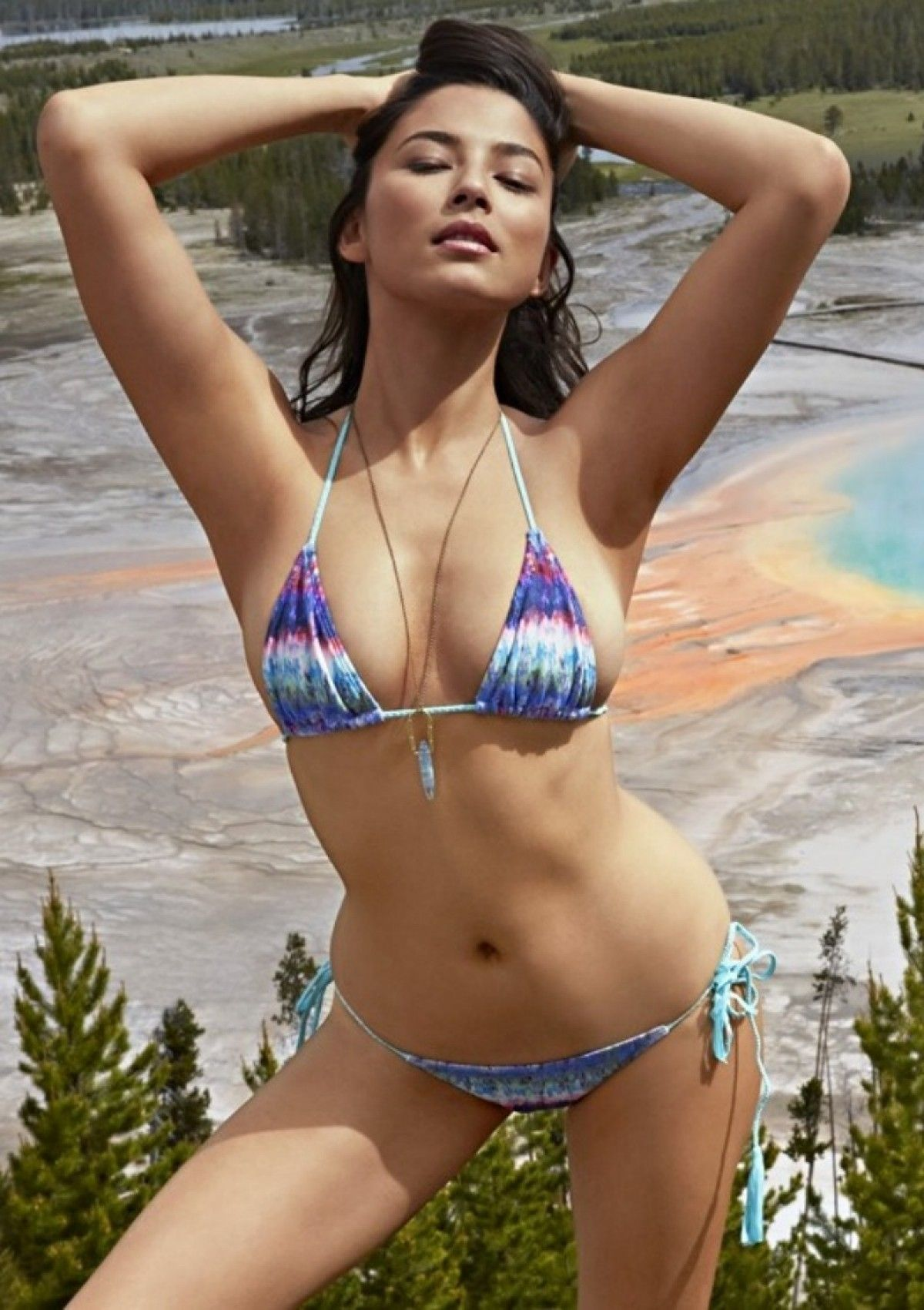 beaut bikimi 2015 Beauty and the Beach Swimwear Tie Dye Aquarius Bikini