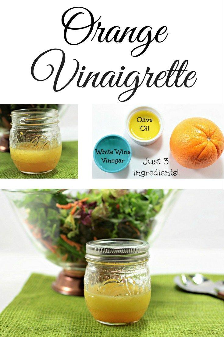 3 Ingredient Orange Vinaigrette Recipe Orange Vinaigrette Vinaigrette Homemade Salads [ 1102 x 735 Pixel ]