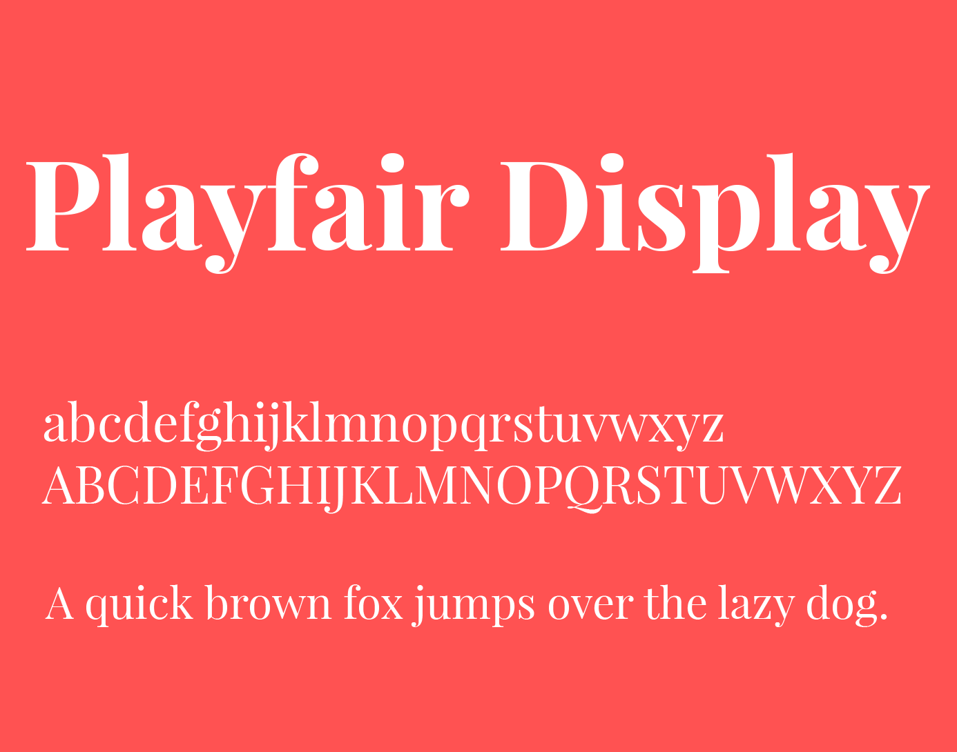 Playfair Display Font Family Free Download | Graphic Design | Google