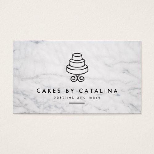 Vintage tiered cake design on white marble bakery business card vintage tiered cake design on white marble bakery business card reheart Images
