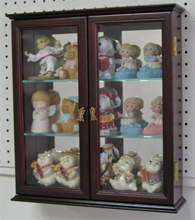 Wall Mounted Curio Cabinet Wall Display Case Shadow Box With Glass Door Solid Wood Cd05c Ma By Glass Cabinets Display Wall Display Case Wall Curio Cabinet