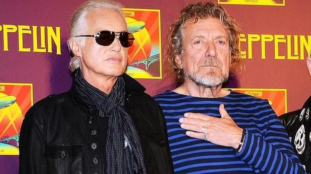 Led Zeppelin guitarist Jimmy Page, left, and singer Robert Plant were in court to face a <i>Stairway to Heaven</i> copyright trial on Tuesday.