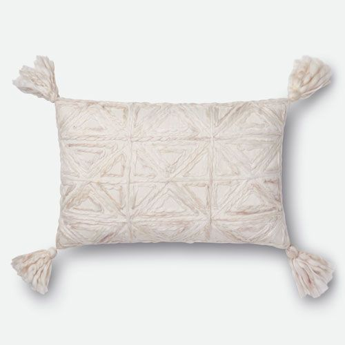 Loloi Natural 40 In X 40 In Pillow Cover With Down Insert Gorgeous 13 X 21 Pillow Insert