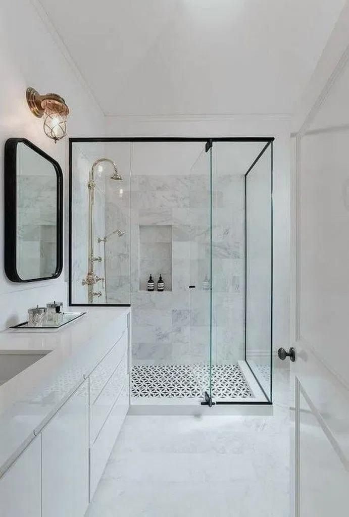 49 Top Modern Bathroom Shower Ideas For Small Bathroom In 2020 With Images Small Bathroom Small Bathroom Decor Modern Bathroom