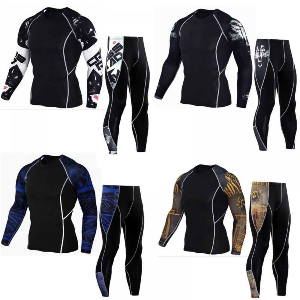 Youth Sports Suit Base Layer Thermal Underwear Compression Clothing Gym  Training Tights Rashgard Male Sportswear Running c86236034800