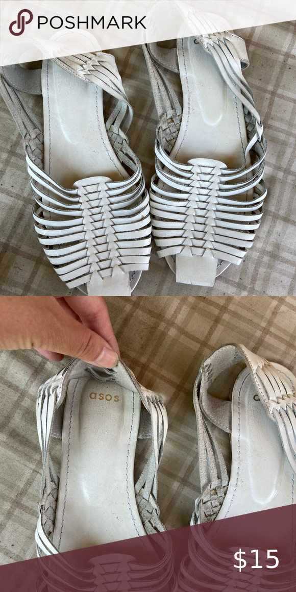 ASOS white huarache sandals size 7. in