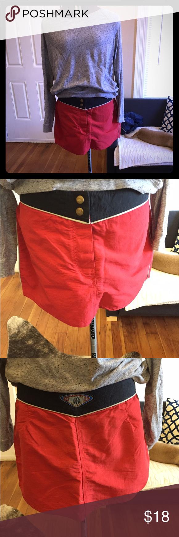 Red surf skirt Red surf skirt Badface Skirts Mini