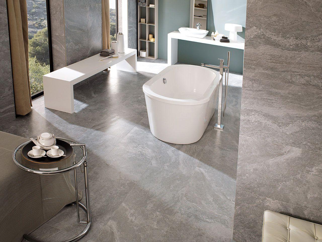 Stylish bathroom with porcelanosas tiles floor tiles ston ker stylish bathroom with porcelanosas tiles floor tiles ston ker zurich grey wall dailygadgetfo Images