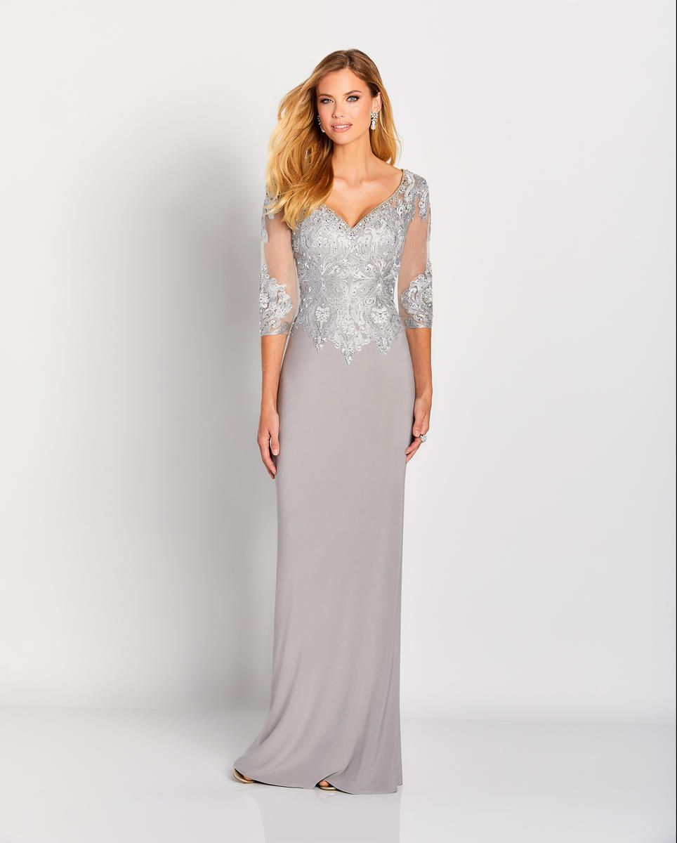 9a5572e2eb29 Cameron Blake 119653 Gown with Metallic Lace in 2019 | Mother of ...