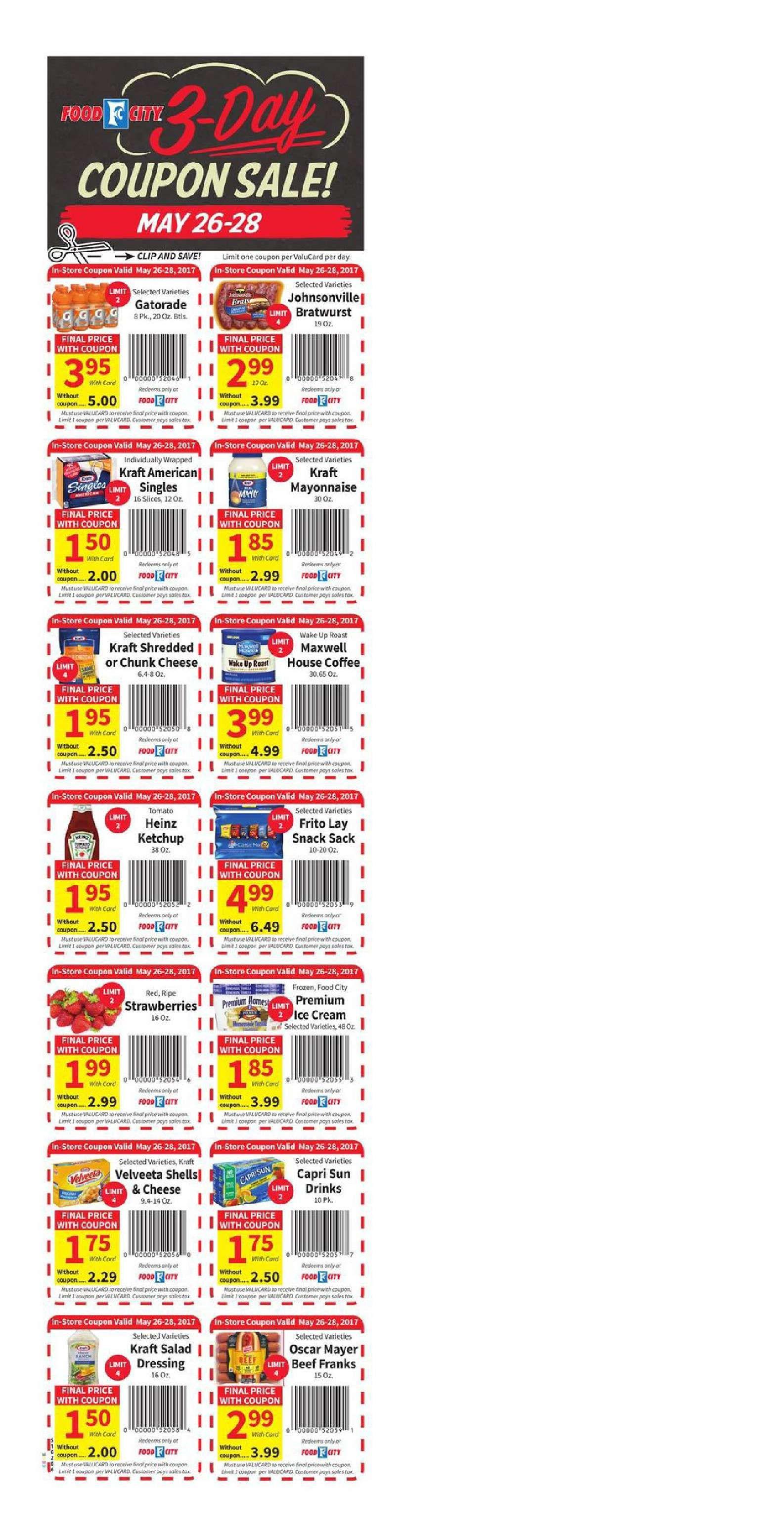 Food city coupon sale may 26 28 2017 food city