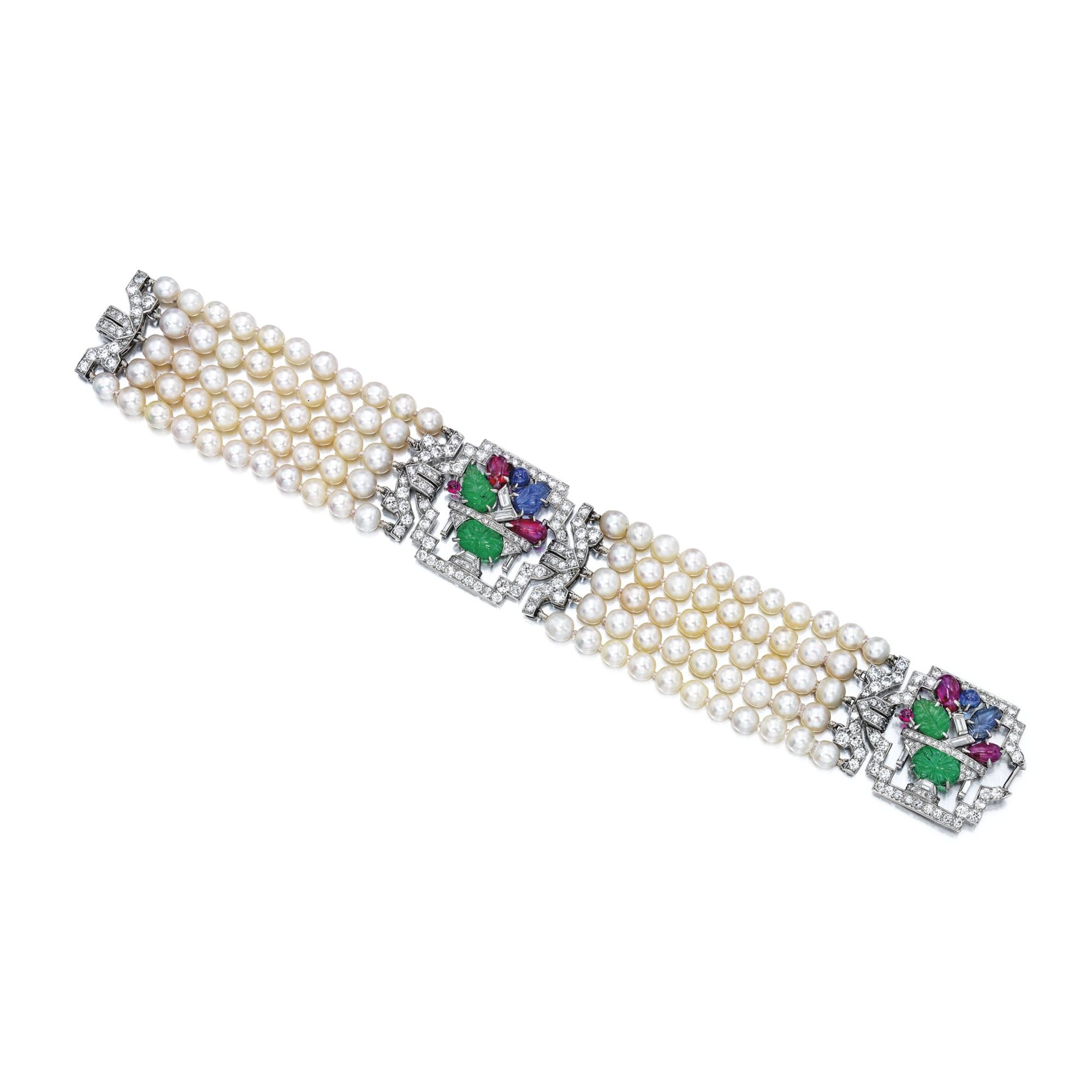 bracelet gold bicego diamond lyst gallery africa jewelry marco white product pearl yellow