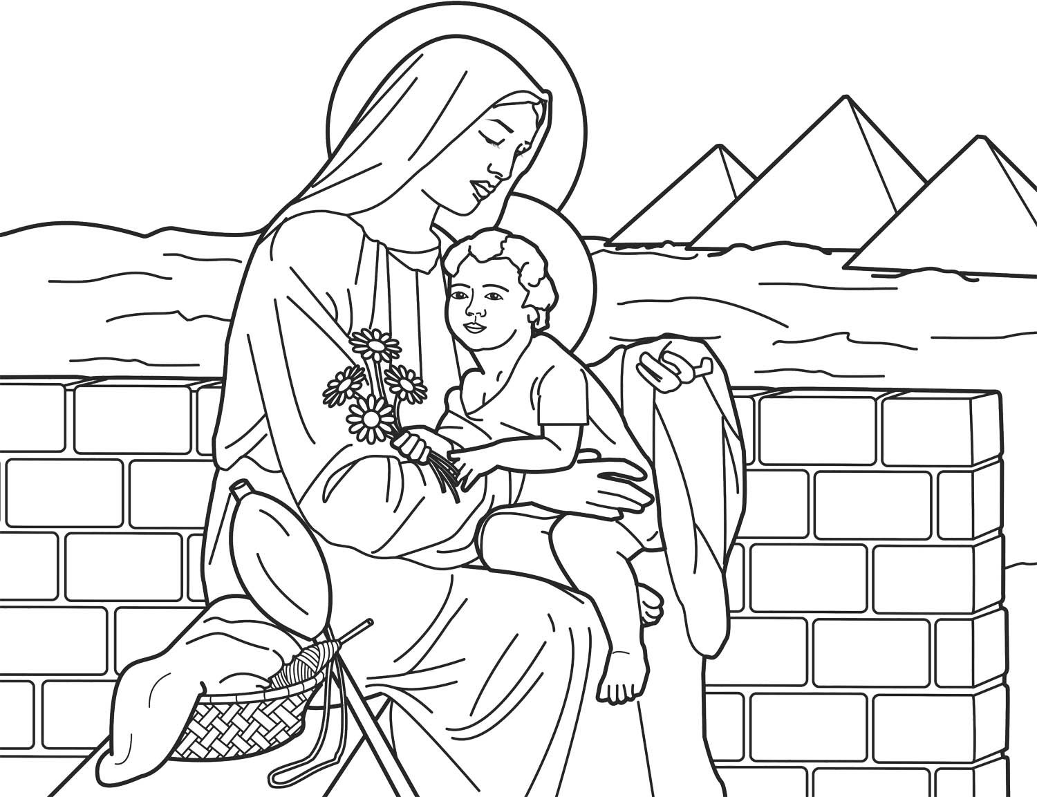 Coloring Pages Mary And Jesus Coloring Pages egypt coloring pages and jesus on pinterest