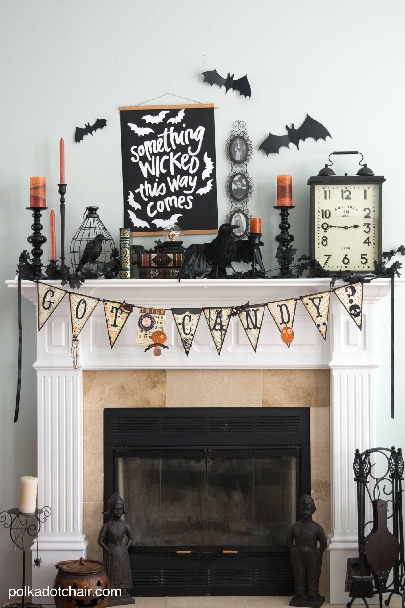 20 Creative Halloween Decorating Ideas Pinterest Mantle ideas - Kid Friendly Halloween Decorations