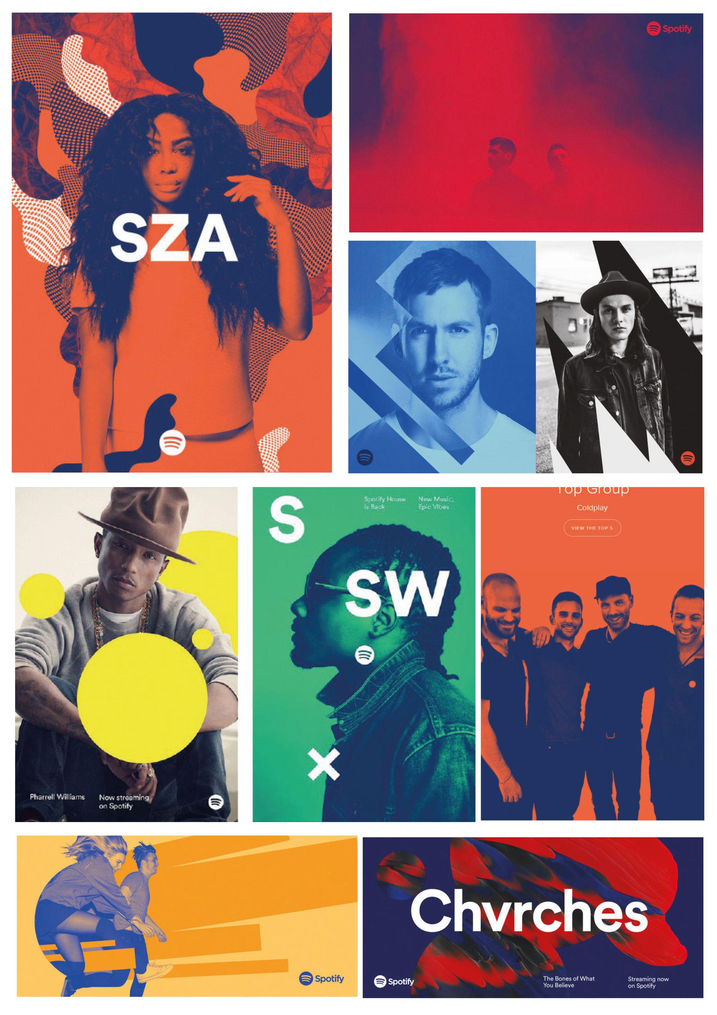 Diseño web de Spotify - Duotonos y degradados
