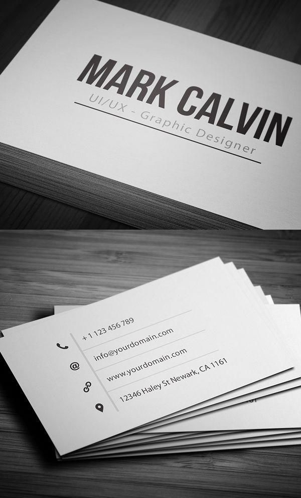 Business Cards Design 50 Amazing Examples To Inspire You 31 Amazing Busin Business Card Design Simple Simple Business Cards Graphic Design Business Card