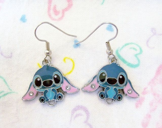 STITCH Earrings Disney LILO Friends Surgical New 626 large