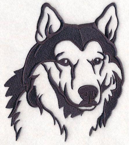 Siberian Husky Silhouette design (M8365) from www.Emblibrary.com ...