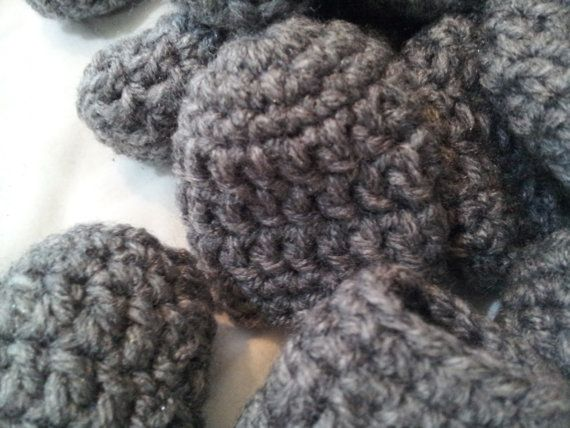 Crocheted Furniture Chair Feet Booties Hardwood Floor Savers Protectors Medium Grey Mix Match Set