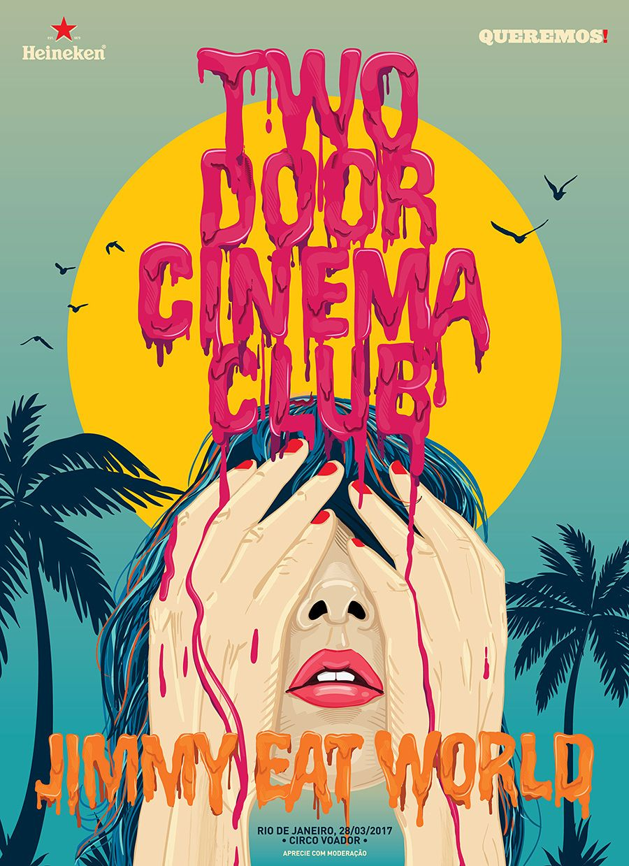 Two Door Cinema Club Queremos In 2020 Club Poster Band Posters Art Collage Wall