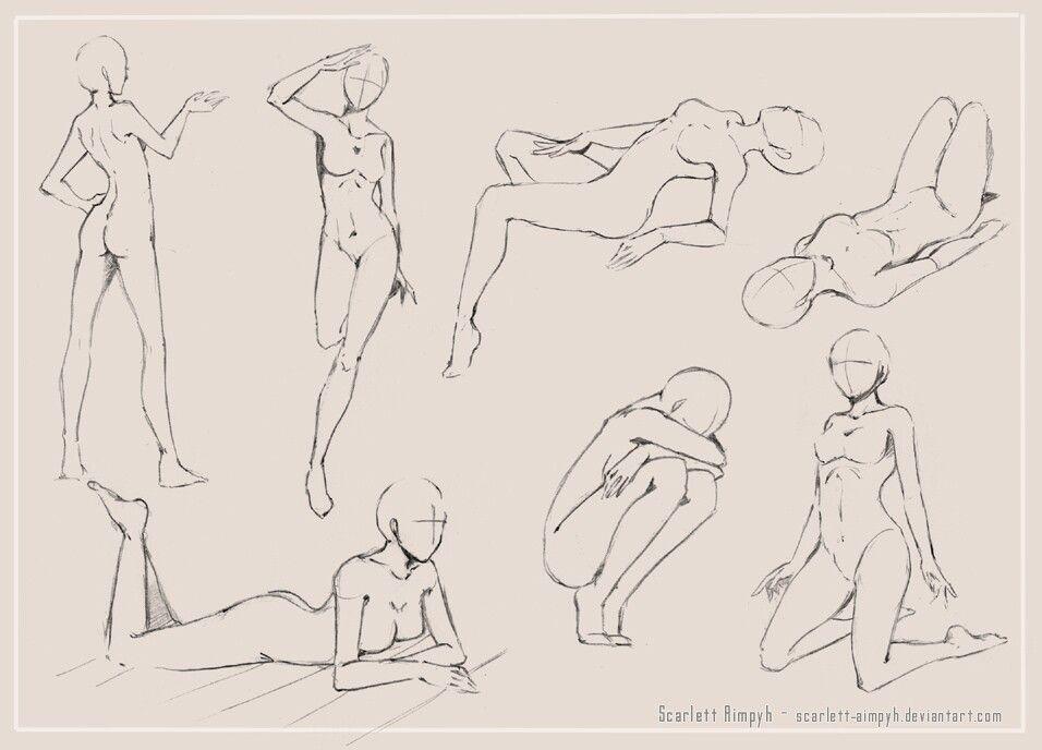 Pin von Tython auf Female Poses   Pinterest   Skizzen, Zeichnen und ...