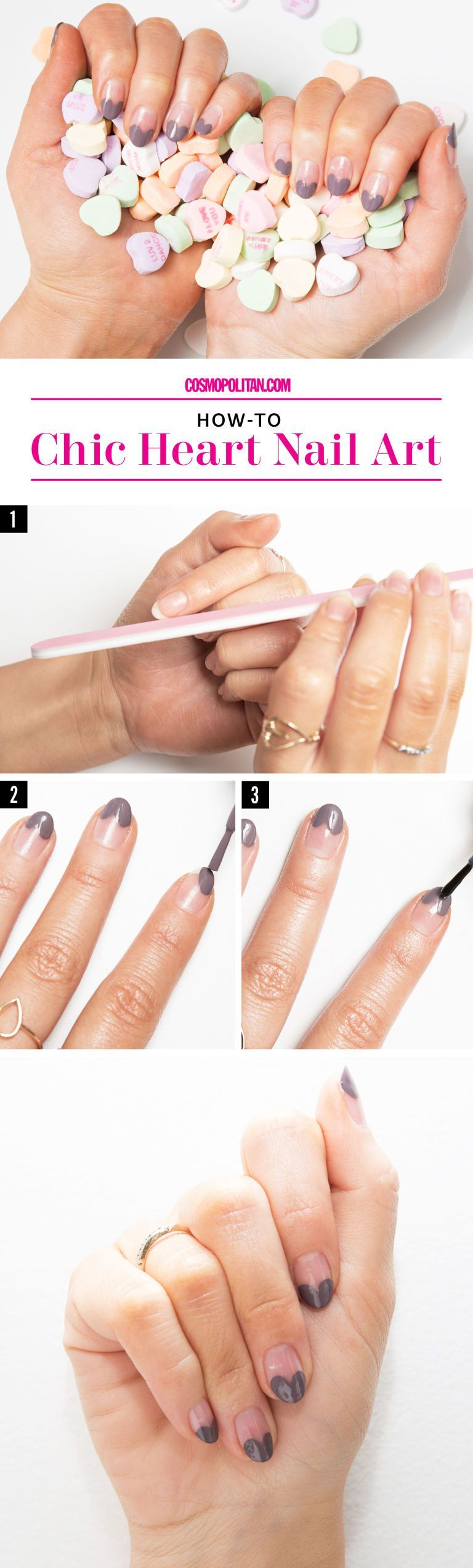 Valentine's Day Nail Art Looks VALENTINE'S DAY NAIL ART: Valentine's Day nails can be cheesy, but these designs from Simcha Whitehill aka Miss Pop are anything but — these are gorgeous and chic nail designs. Click through for this easy DIY nail art tutorial and instructions, plus you'll find 4 more gorgeous nail art tutorials and m