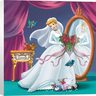 Cinderella On Her Wedding Day To Prince Charming From The Disney Movie